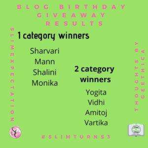Winner of Slim Expectations Blog train