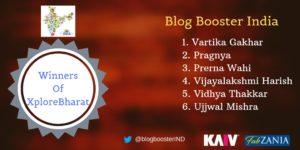 Winner of Explore Bharat Blog Train