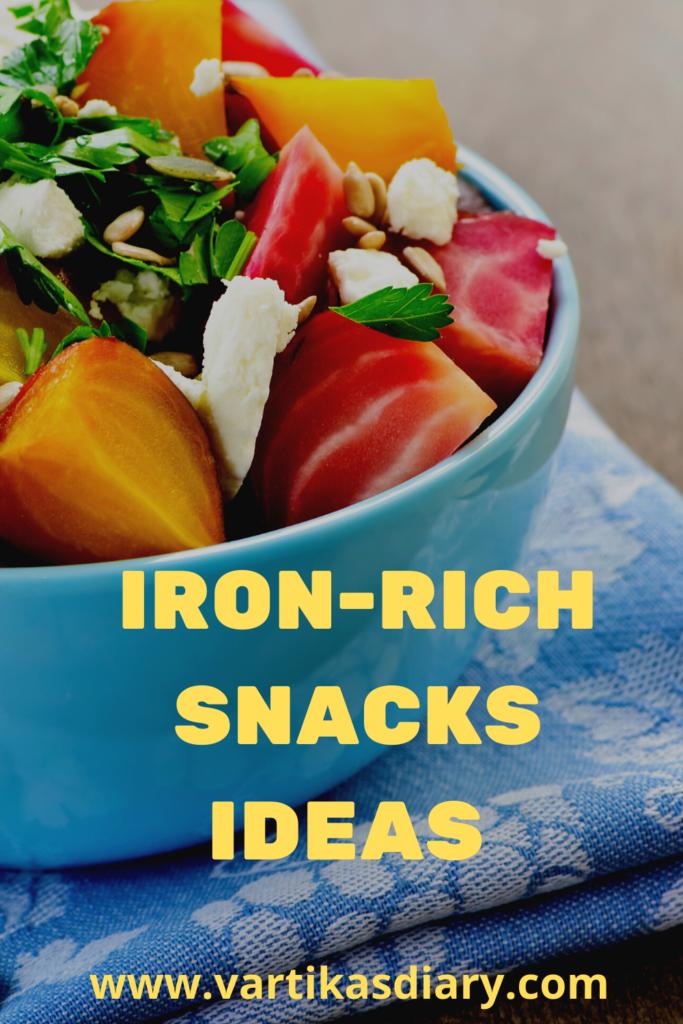 Iron rich snacks ideas
