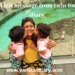 Look Mamma! A heartfelt message from twin toddler's diary