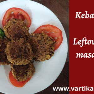 Kebabs recipe using the Leftover Chana masala curry